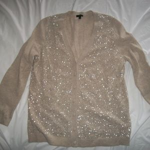 Talbots Womens Sparkly Lambswool Sweater XL